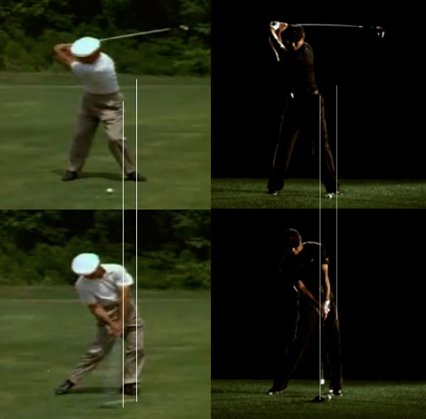 Lateral shift of the hips on the downswing - Instruction and